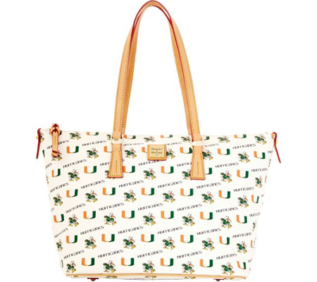 Dooney & Bourke NCAA University of Miami Zip Top Shopper