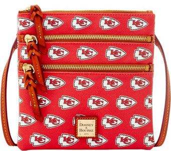Dooney & Bourke NFL Chiefs Triple Zip Crossbody - A285648