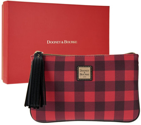 Dooney & Bourke Novelty Carrington Pouch w/ Gift Box
