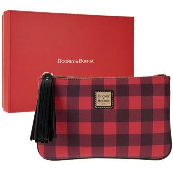 Dooney & Bourke Novelty Carrington Pouch w/ Gift Box