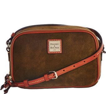 """As Is"" Dooney & Bourke Suede Sawyer Crossbody - A288548"