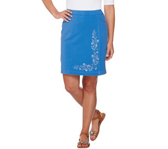 """As Is"" Quacker Factory DreamJeannes Floral Skort - A289548"