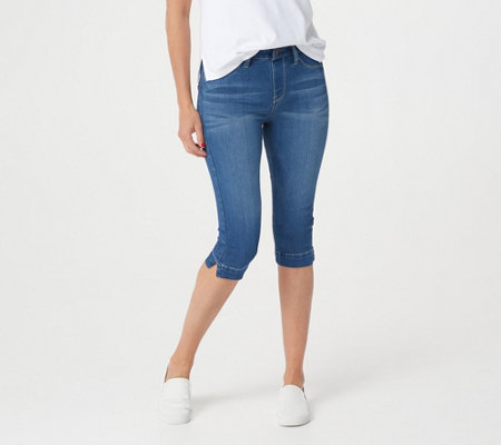 Laurie Felt Silky Denim Pull-On Pedal Pushers