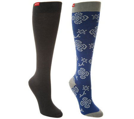 VIM & VIGR Cotton Graduated Compression Socks Set of 2