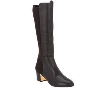"""As Is"" Judith Ripka Leather & Stretch Tall Shaft Boots - Jill - A293148"
