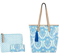 DENA North/South Shopper_with Pouch and Wallet - A293548