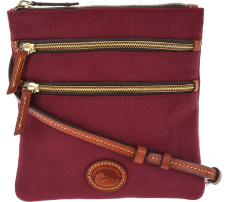 Dooney & Bourke Nylon North South Triple Zip Crossbody