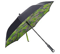 Revers-A-Brella Double Layer Inverted Automatic Open Umbrella w/ Lig - A298848