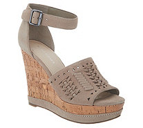 Marc Fisher Suede Ankle Strap Wedges - Hillana - A303048