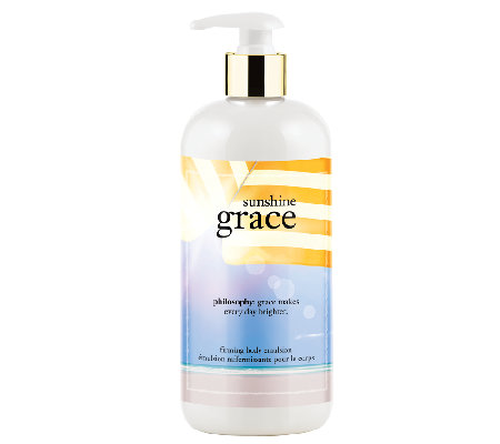 philosophy sunshine grace firming body emulsion, 16 oz