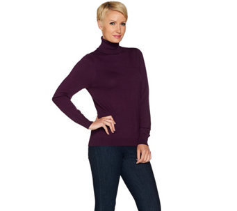 Linea by Louis Dell'Olio Whisper Knit Long Sleeve Turtleneck - A72448