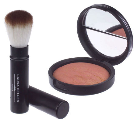 Laura Geller Pink Grapefruit Baked Blush N Brighten & Brush