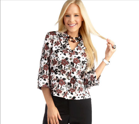 Joan Rivers Spring Floral Jacket