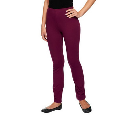 Susan Graver Weekend Stretch Cotton Leggings - Petite