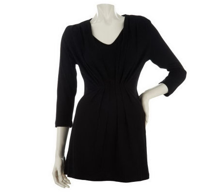 Liz Claiborne New York 3/4 Sleeve Tunic w/Pleat Detail