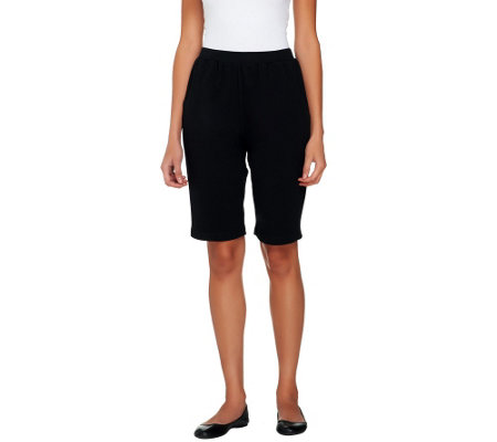Denim & Co. Essentials Pull-on French Terry Slim Leg Shorts