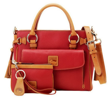 """As Is"" Dooney & Bourke Leather Medium Pocket Satchel"