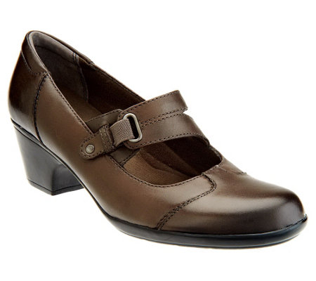 Clarks Leather Slip-on Mary Janes - Ingalls Siene