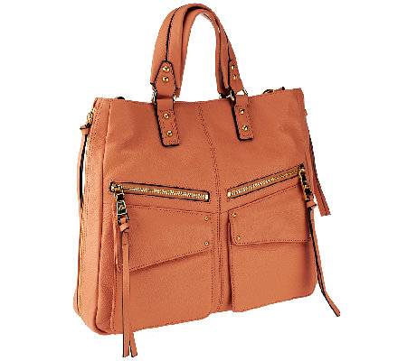 Aimee Kestenberg Pebble Leather Medium Tote with Pockets