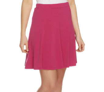 Susan Graver Liquid Knit 8 Gore Pull-on Skort - A252249