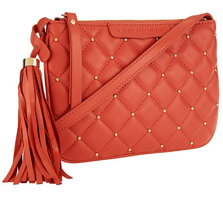 Isaac Mizrahi Live! Bridgehampton Lamb Leather Mini Bag