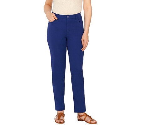 Isaac Mizrahi Live! Regular 24/7 Stretch 5 Pkt Ankle Pants