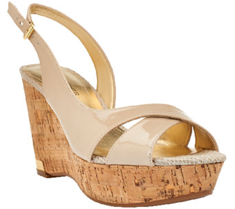 Marc Fisher Open-toe Wedges w/ Backstrap - Wasin II - A264449