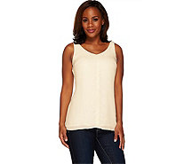 G.I.L.I. Sleeveless V-Neck Tunic with Front Seam Detail - A264749