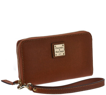 Dooney & Bourke Saffiano Leather Zip Around Wristlet