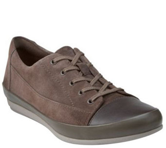 Clarks Leather Lace-up Sneakers - Lorry Grace - A268849