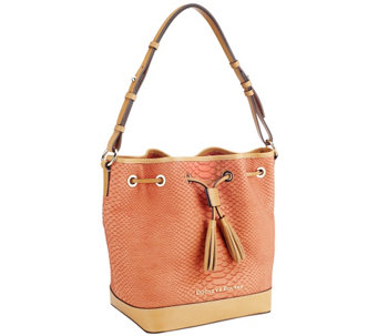 """As Is"" Dooney & Bourke Claremont Python Drawstring Bag - A271449"