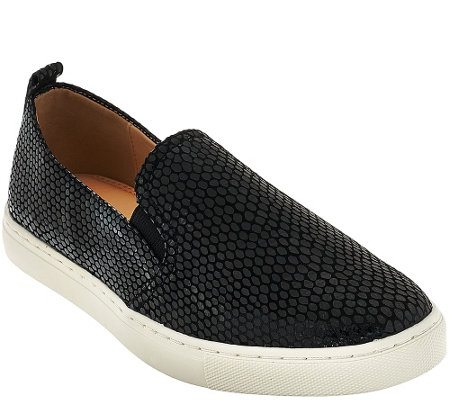 """As Is"" Isaac Mizrahi Live! SOHO Slip-On Sneakers"