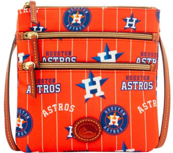 Dooney & Bourke MLB Nylon Astros Triple Zip Crossbody - A281549