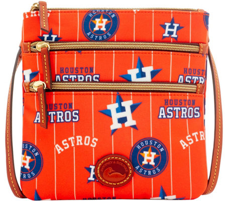 Dooney & Bourke MLB Nylon Astros Triple Zip Crossbody