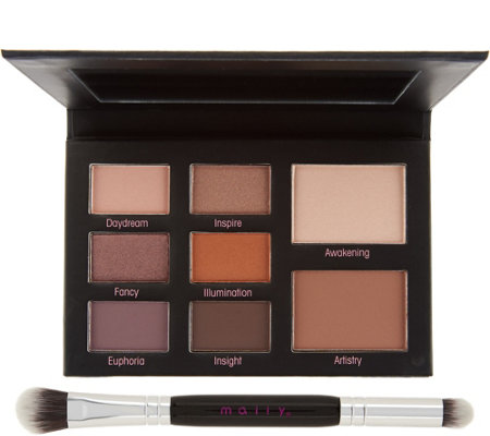 Mally Muted Muse Shadow Palette w/ Double-Ended Brush