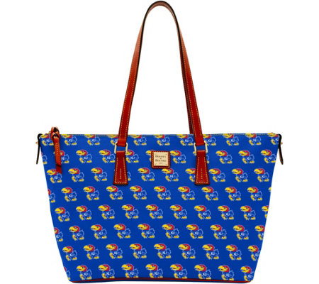 Dooney & Bourke NCAA University of Kansas Zip Top Shopper