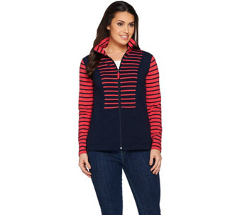 Susan Graver Weekend French Terry Zip Front Jacket - A285449