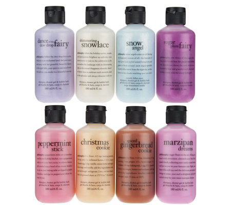 philosophy 8-piece land of sweets holiday shower gel set