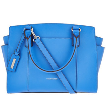 """As Is"" Tignanello Saffiano Leather RFID Satchel - A288449"
