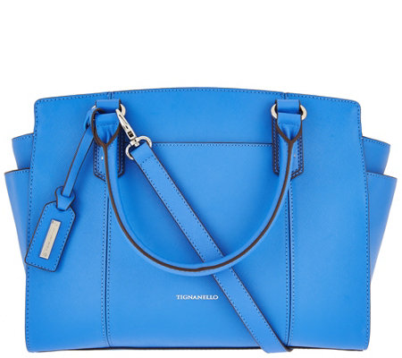 """As Is"" Tignanello Saffiano Leather RFID Satchel"