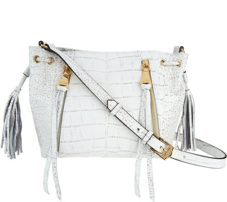 Aimee Kestenberg Pebble Leather Crossbody- Avalon
