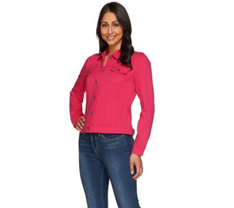 """As Is"" Kelly by Clinton Kelly Jean Style Ponte Jacket - A291749"