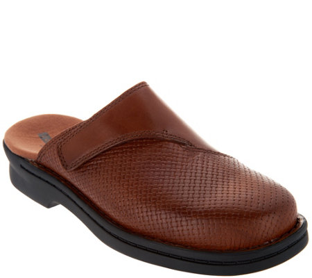 Clarks Embossed Leather Slip-on Clogs - Patty Tayna