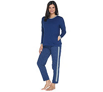 Stan Herman Petite French Terry Tunic and Jogger Set - A301849