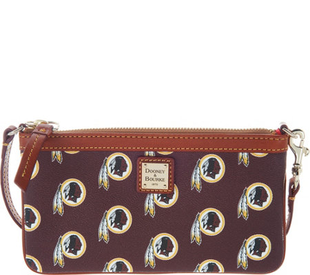 Dooney & Bourke NFL Redskins Large Slim Wristlet