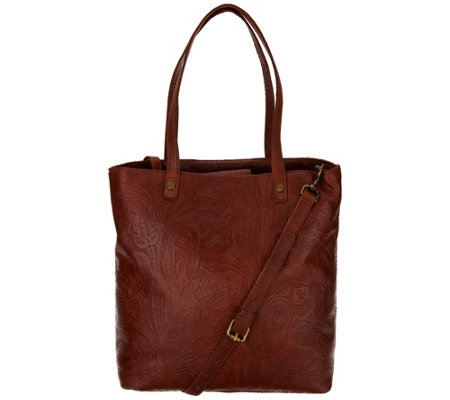 American Leather Co. Glove Leather Convertible Shopper