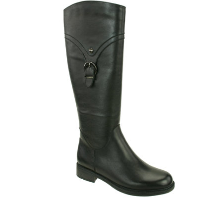 David Tate Leather Tall Boots - Texas
