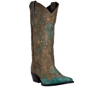 Dan Post Laredo Leather Cowboy Boots - Cross Point - A335449