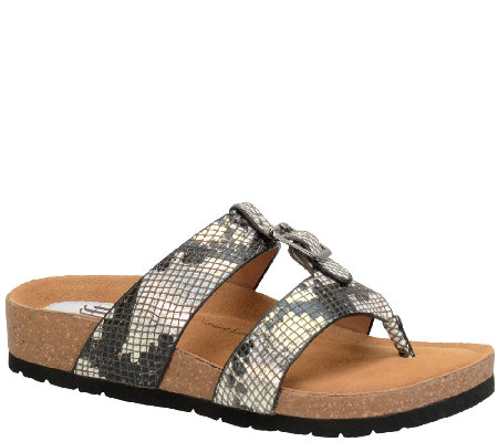 Sofft Printed Leather Sandals - Bettina