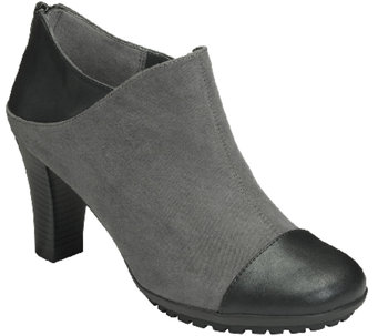 Aerosoles Heel Rest Booties with Lug Sole - Commentary - A336449